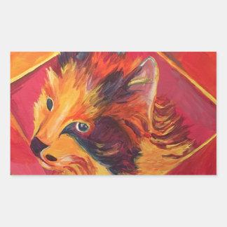 POP ART COLORFUL CAT STICKER