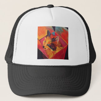POP ART COLORFUL CAT TRUCKER HAT