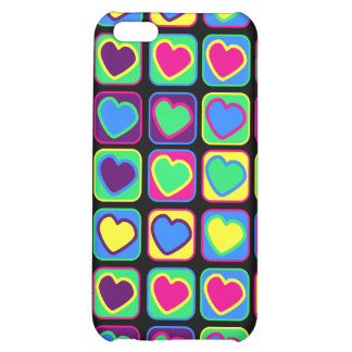 Pop art colorful hearts Case for iPhone 4