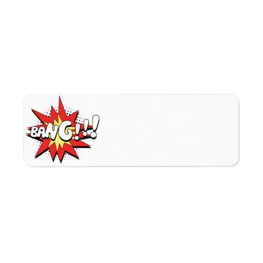 Pop Art Comic Bang! Return Address Label