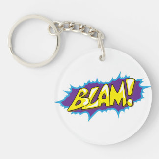 Pop Art Comic Blam! Keychain