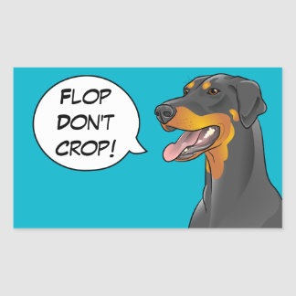 Pop Art Comic Doberman Cropping Awareness Dog