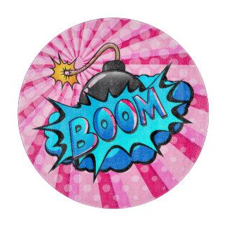 Pop Art Comic Style Bomb Boom! Cutting Board