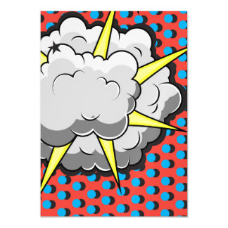 Pop Art Comic Style Explosion Magnetic Invitations
