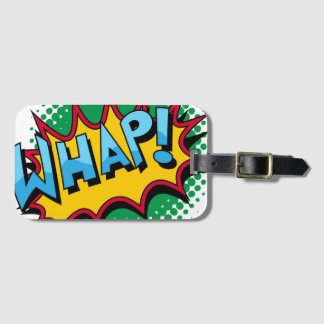 Pop Art Comic Style Whap! Luggage Tag
