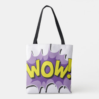 Pop Art Comic Style Wow Tote Bag
