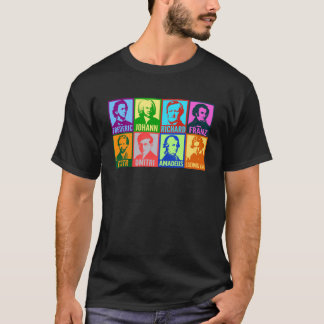 Pop Art Composers | Colorful Mod Portraits T-Shirt