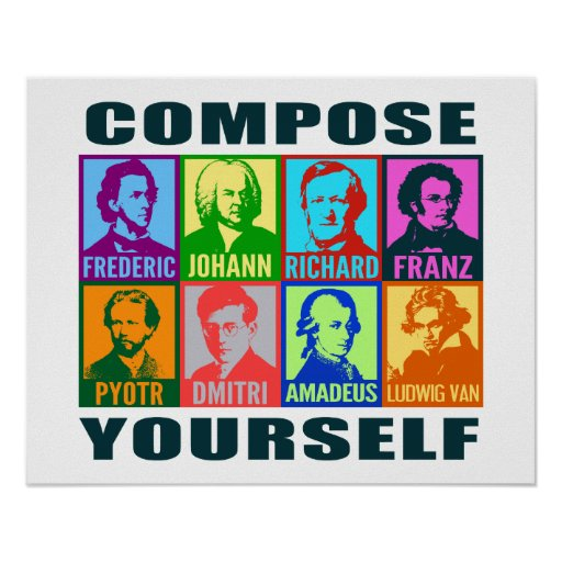 Pop Art Composers   Compose Yourself Poster