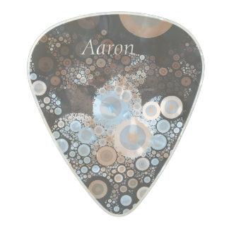 Pop Art Concentric Circles Blue Guitar Pick