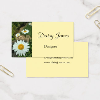 Pop Art Concentric Circles Daisy business card