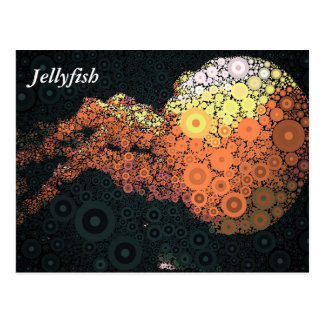 Pop Art Concentric Circles Jellyfish Postcard