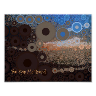 Pop Art Concentric Circles Small Poster