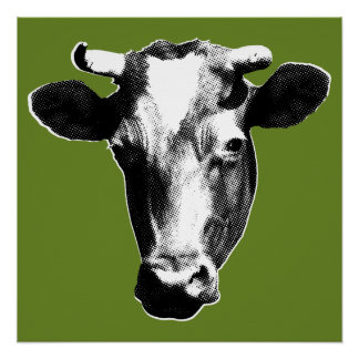 Pop Art Cow Perfect Poster