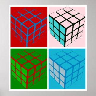 Pop art cubes poster