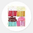 Pop Art Cupcakes Classic Round Sticker