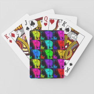 Pop Art Dachshund Doxie Sweet Face Soulful Eyes Poker Deck