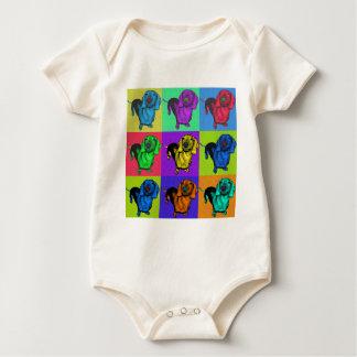 Pop Art Dachshund Panels Baby Bodysuit