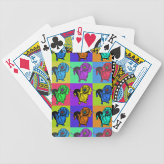 Pop Art Dachshund Panels Bicycle Playing Cards