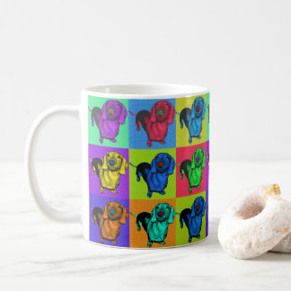Pop Art Dachshund Panels Coffee Mug