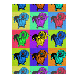 Pop Art Dachshund Panels Letterhead