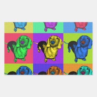 Pop Art Dachshund Panels Sticker