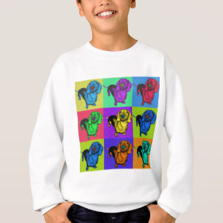 Pop Art Dachshund Panels Sweatshirt