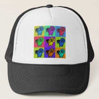 Pop Art Dachshund Panels Trucker Hat