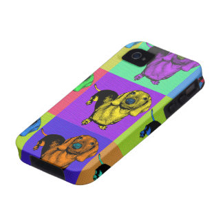 Pop Art Dachsund Doxie Panels Multi-Color Popart iPhone 4 Cover