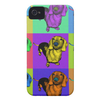 Pop Art Dachsund Doxie Panels Multi-Color Popart Blackberry Bold Cover
