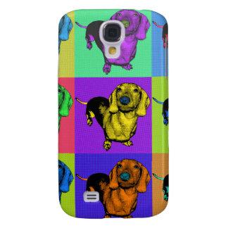 Pop Art Dachsund Doxie Panels Multi-Color Popart Samsung Galaxy S4 Case