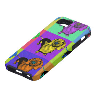 Pop Art Dachsund Doxie Panels Multi-Color Popart iPhone 5 Covers