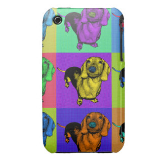 Pop Art Dachsund Doxie Panels Multi-Color Popart iPhone 3 Case-Mate Cases