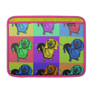 Pop Art Dachsund Doxie Panels Multi-Color Popart MacBook Sleeves