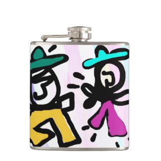 Pop art Dancing! Hip Flask