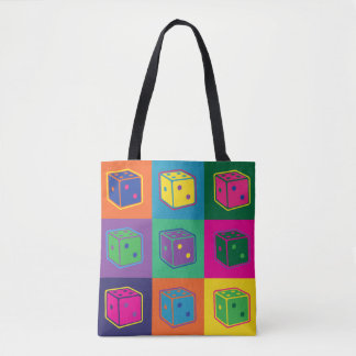 Pop-art Dice Tote