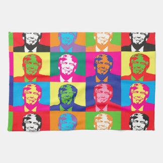 pop art donald trump hand towel