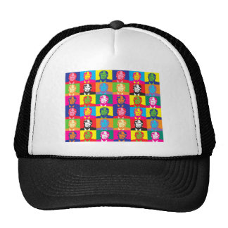 pop art donald trump trucker hat