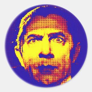 Pop Art Dracula Round Sticker