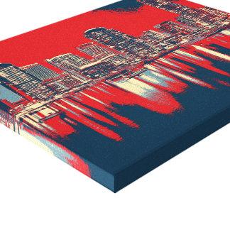 Pop Art Dubai Skyline Canvas Print