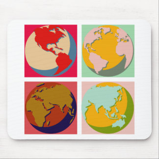 Pop Art Earth Mouse Pad