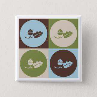 Pop Art Ecology 2 Inch Square Button
