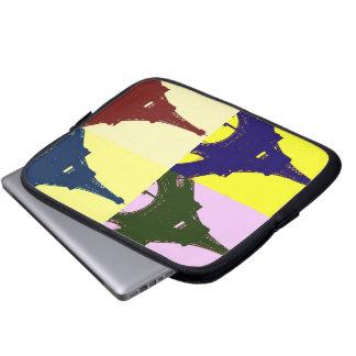 Pop art Eiffel tower Laptop Sleeve