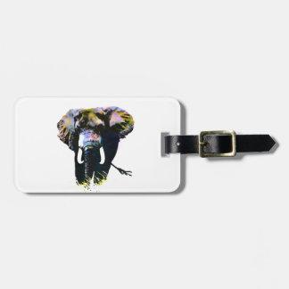 Pop Art Elephant Tag For Bags