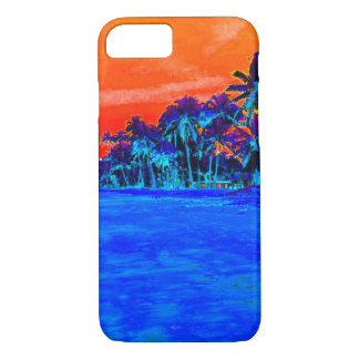 Pop Art Exotic Beach Palm Trees iPhone 7 Case