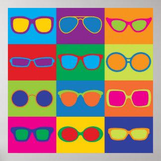 Pop Art Eyeglasses Poster