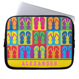 Pop Art Flip Flops Laptop Sleeve