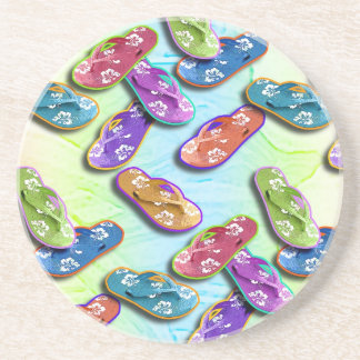 Pop Art Flip Flops Multi Coaster