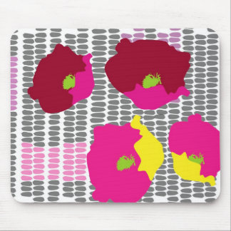 Pop art flowers digital art mouse pad