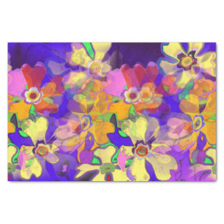 Pop Art Flowers Tissue Paper