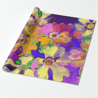 Pop Art Flowers Wrapping Paper